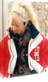 Sabrina moderiert für BB-Radio in Gransee