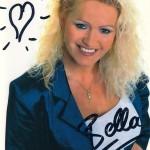 Sabrinas erste Autogrammkarte aus 2000