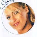 Sabrinas Autogrammkarte in 2003