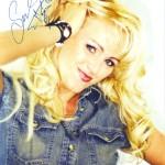 Sabrinas Autogrammkarte aus 2002