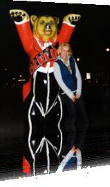 Sabrina Lange und die Buddy Bears in Berlin