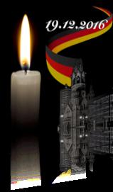 Sabrina Lange & Team im stillen Gedenken an die Opfer des Terroranschlags in Berlin am 19.12.2016
