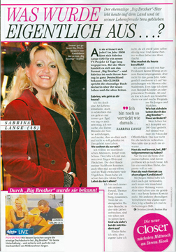 Sabrina Lange im Interview mit dem Closer