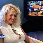 Sabrina Lange im Big Brother Regieraum.