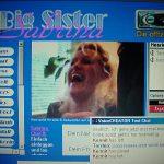 Die allererste Homepage von Sabrina - in 2000 bereits mit Voice-Chat und Live-Cam.