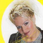 Gedruckte Autogrammkarte von Sabrina zum Heraustrennen aus der Zeitschrift von vorn...