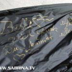 """Sabrinas Widmung braucht Platz - fast den ganzen Ärmel: """"Bella ♥️ Viel Glück alles Liebe Du kannst alles"""""""