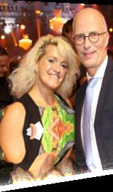 Sabrina Lange mit Hamburgs B&uuml:rgermeister Tschentschner