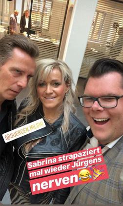 Sabrina mit Jürgen und Dennis