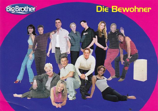 Alle 13 Bewohner der 1. Big Brother Deutschland Staffel 2000. Foto: Endemol