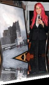 Sabrina Lange moderiert an Bord des Schlagerboots Hamburg auf der Charity Art und Literature Gala