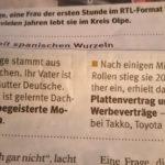 Sabrina Lange in der Westfalenpost, 16.05.2020
