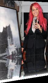 Sabrina Lange moderiert auf der Charity Art & Literature in Hamburg