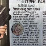 Sabrina Lange in der BILD, 05.12.2020